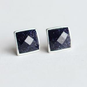 Pretty square starry sky purple san..